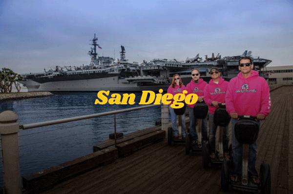 San diego segway tour, san diego harbor segway tour, gaslamp segway tour